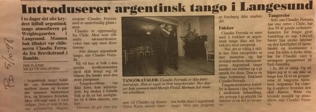 Historien til Grenland Tango startet i 1998
